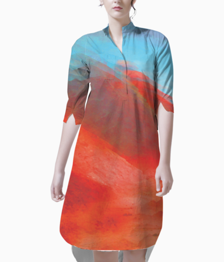Mountain glitch kurti front