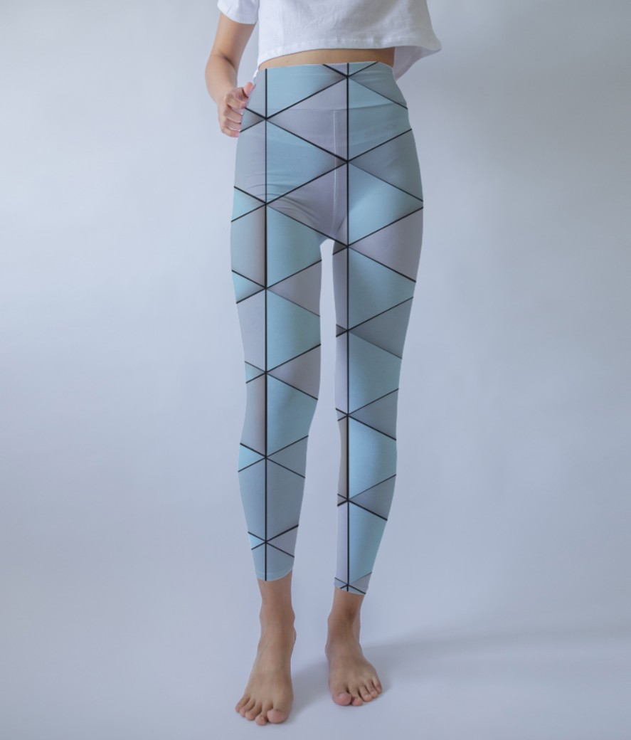 Triangle pastel leggings front