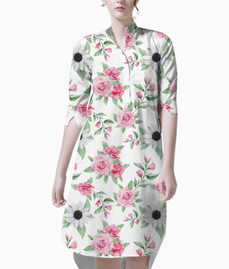Cute seamless pattern watercolor floral 121909 55 kurti front