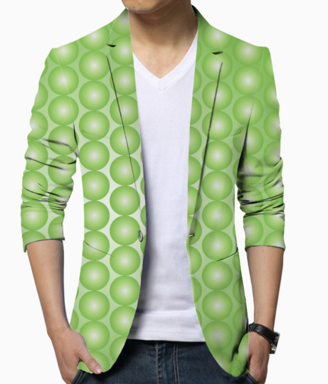 Yellow green pearl pattern blazer front