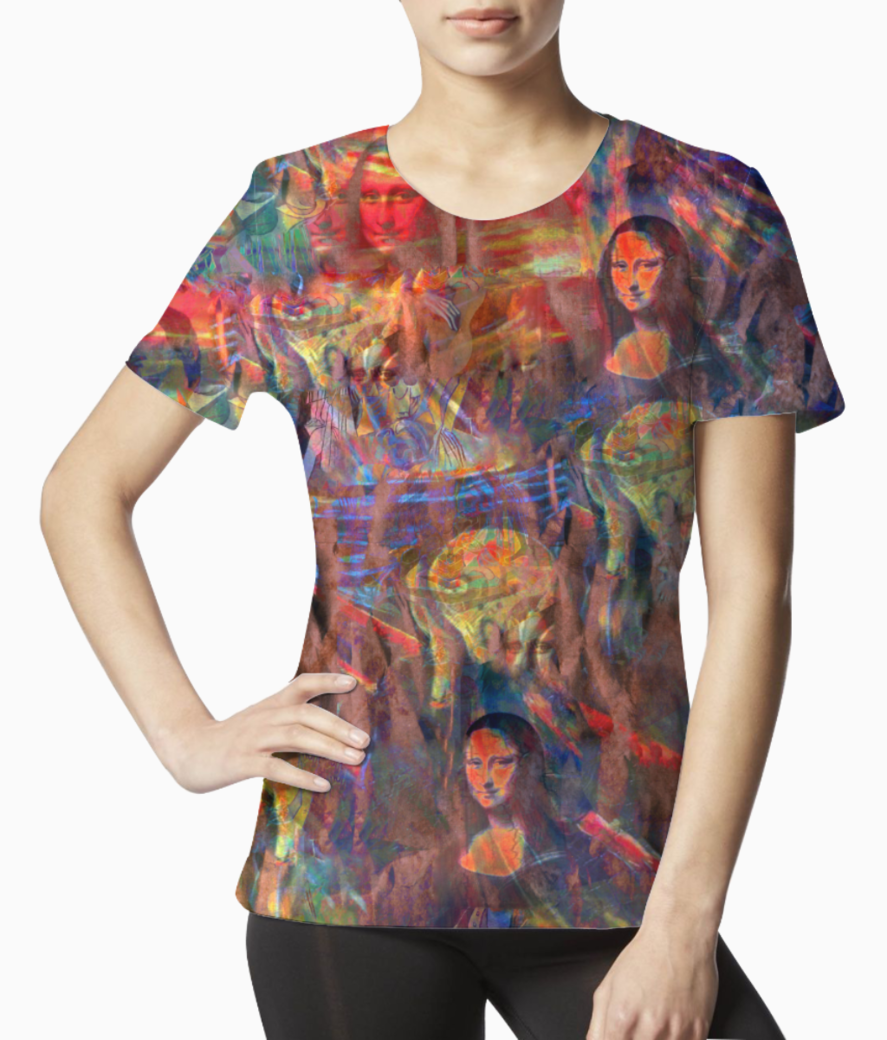 Red art spicy tee front