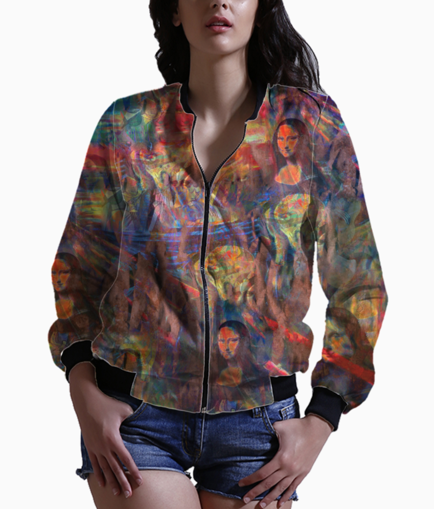 Red art spicy bomber front