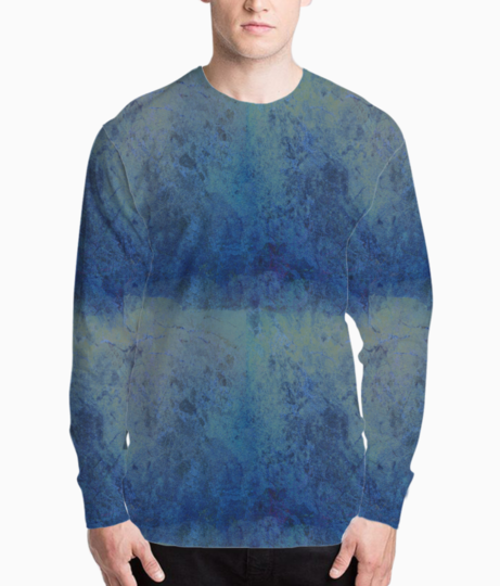 Blue marble henley front