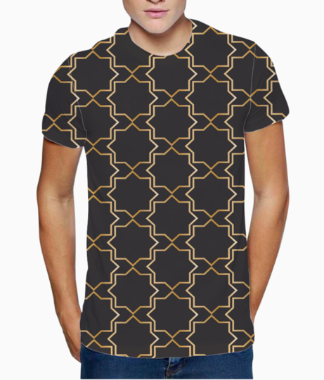 Geometric ethnic royal pattern t shirt front