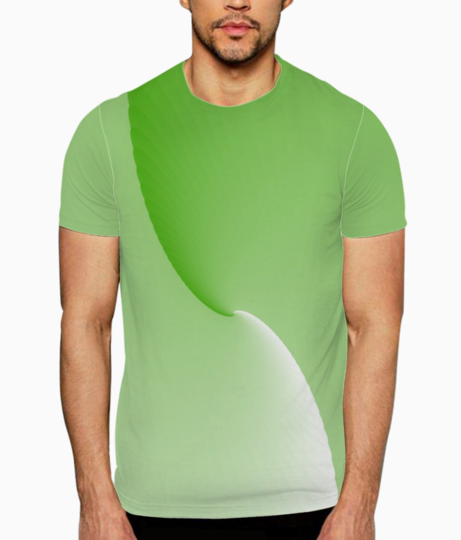 Green abstract t shirt front
