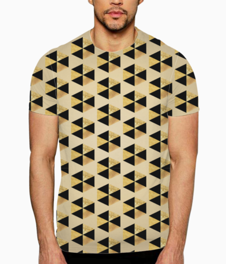 Hexagon seamless glitter pattern t shirt front