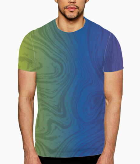 Multicolor marble t shirt front