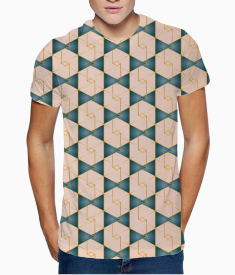 Royal geometric ethnic pattern t shirt front