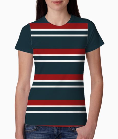 Retro red chevrons tee front