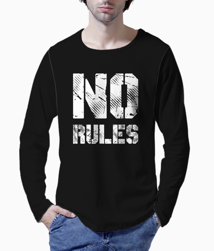 No rules typography henley front