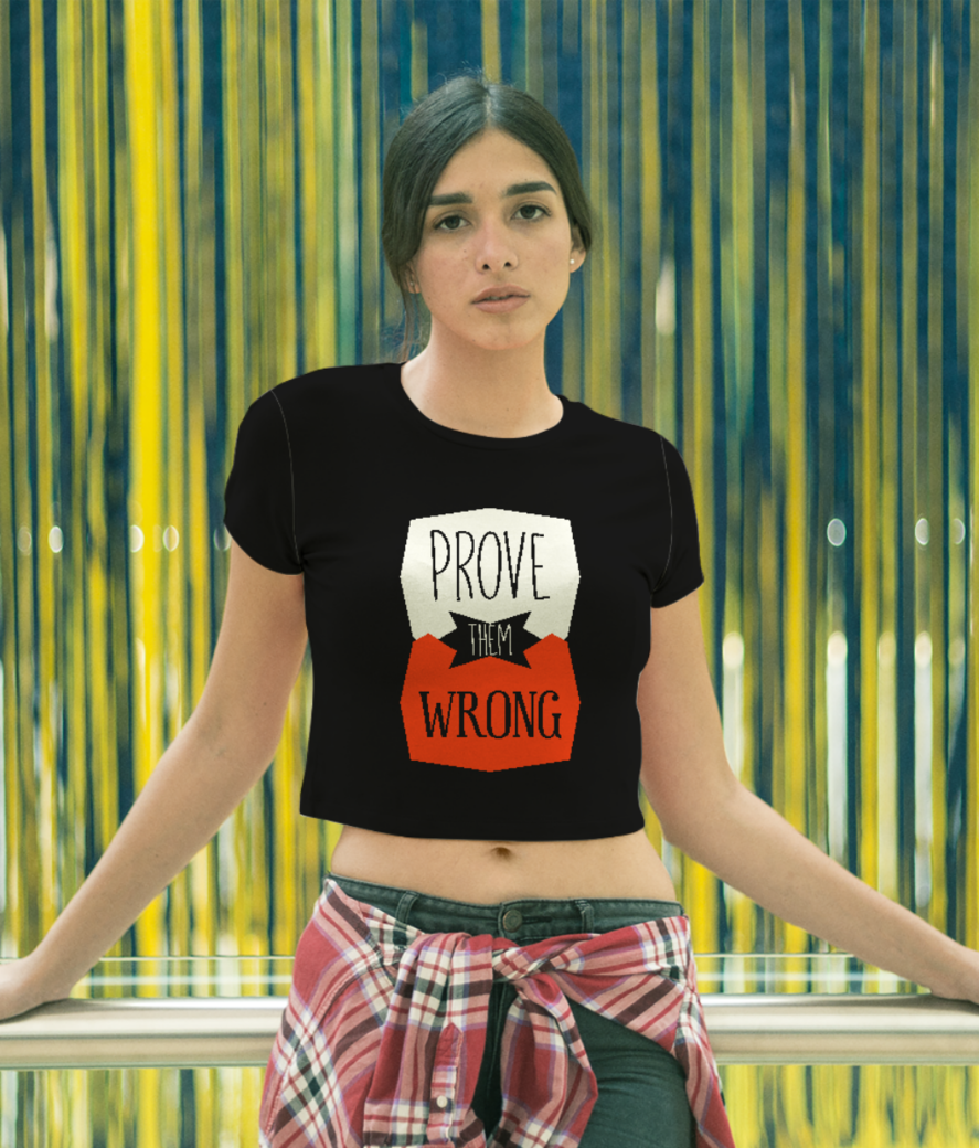 Prove wrong crop top front