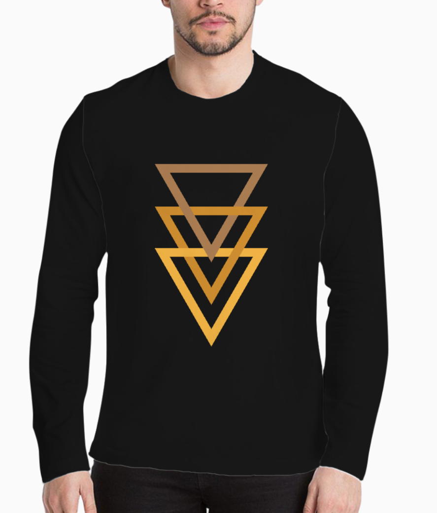 Gold triangle henley front