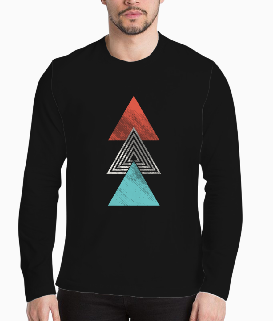 Triple triangle tattoo henley front