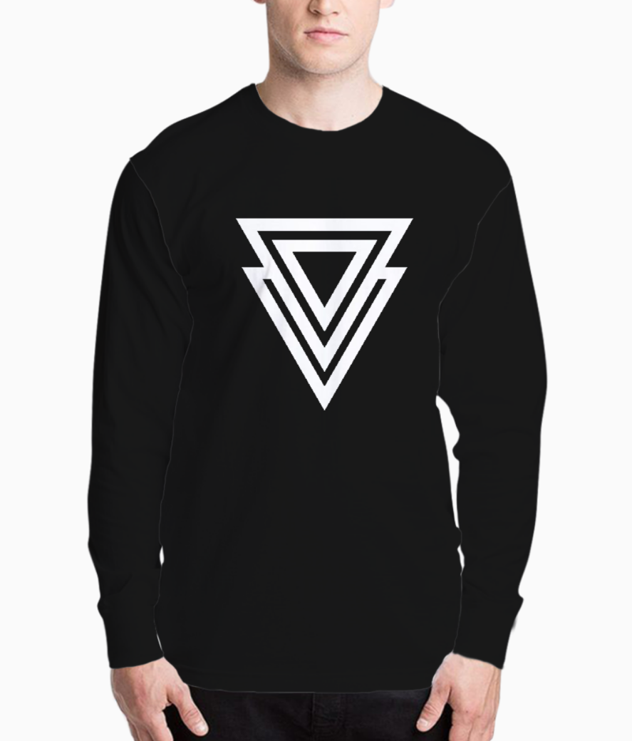 Double triangle vector henley front