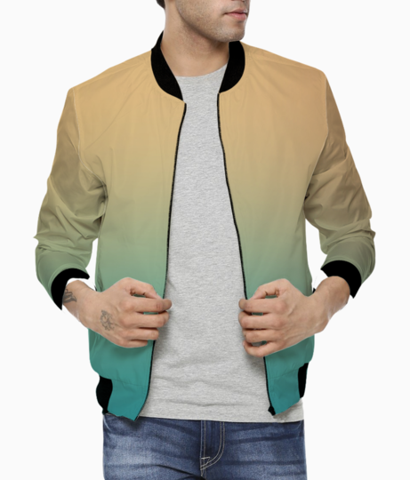Beach abstract bomber front