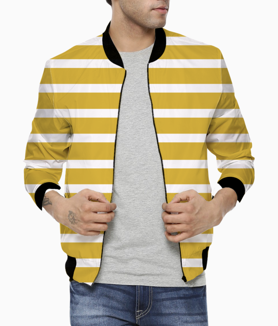 Golden stripes bomber front