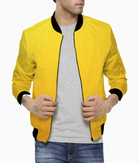 Yellowish orange abstract bomber front