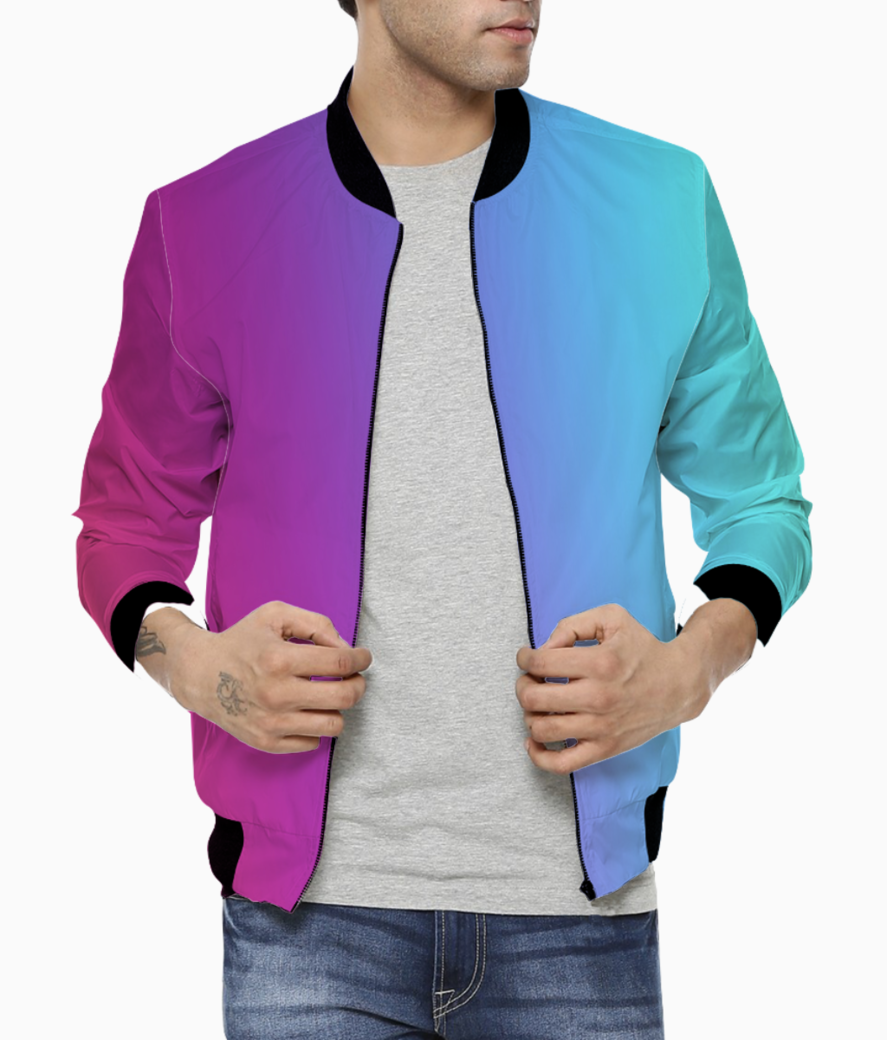 Multicolor abstract bomber front