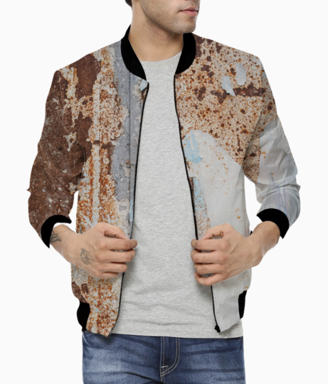 Rusty rose bomber front