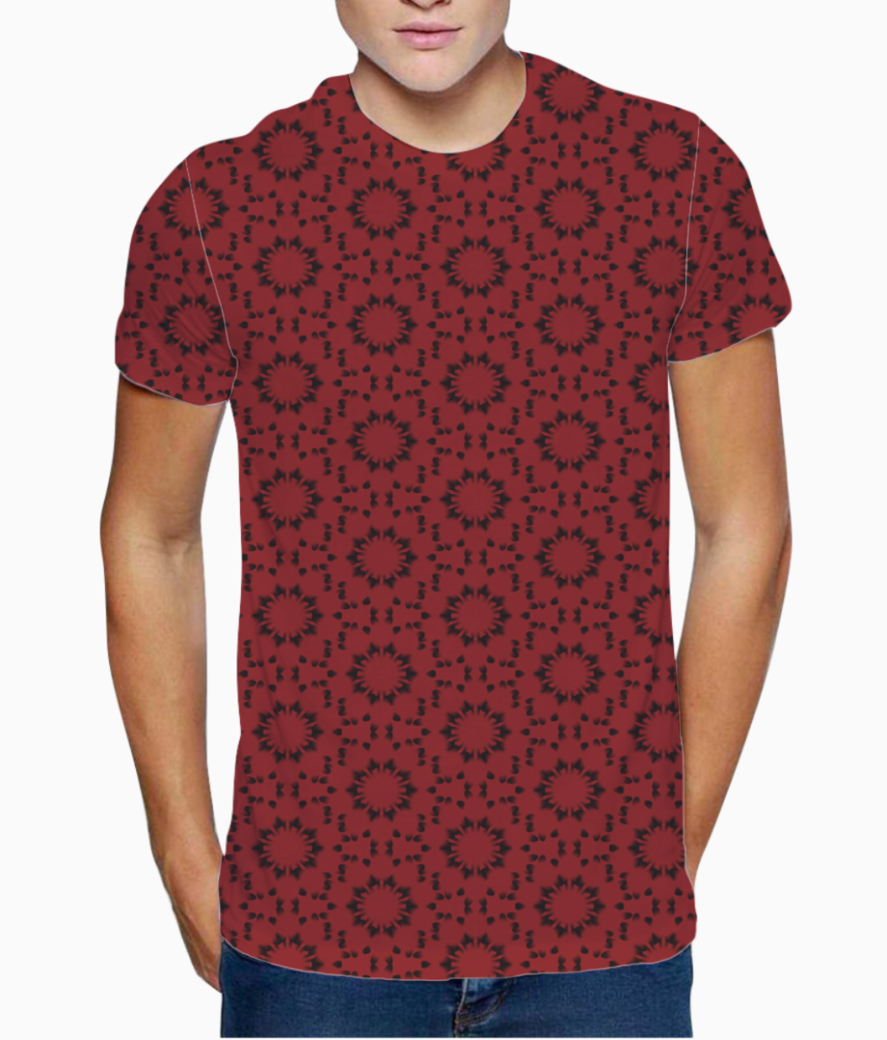 Red seamless pattern t shirt front