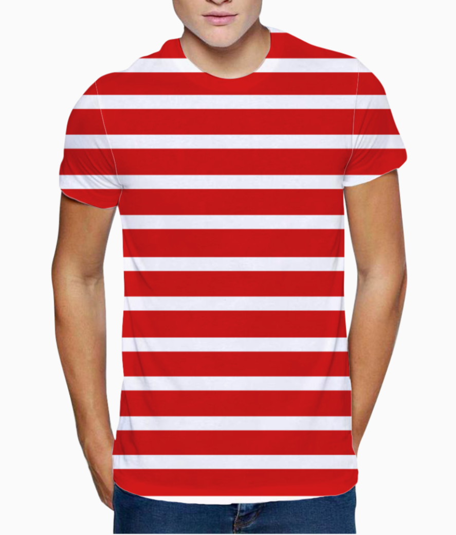 Strawberry stripes t shirt front
