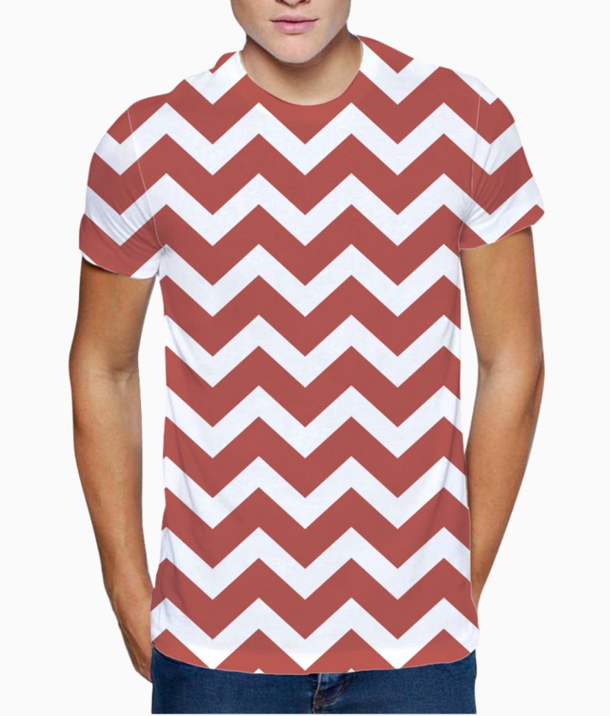 Tuscan red chevron t shirt front