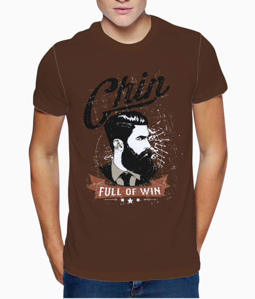 Chin full of win t shirt front