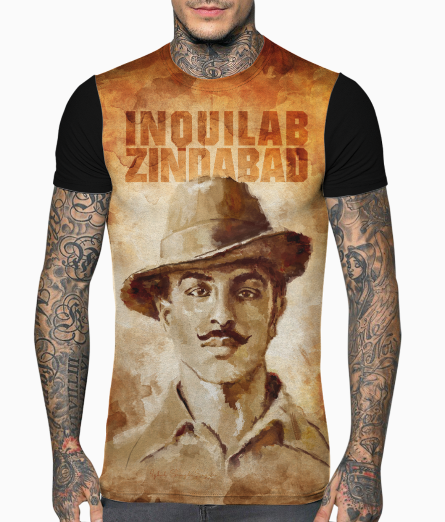 Bhagat singh redesyn t shirt front