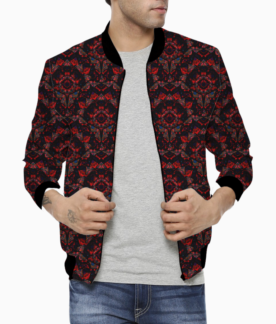 Peacock dance bomber front