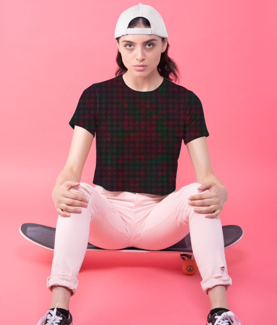 Checkers crop top front