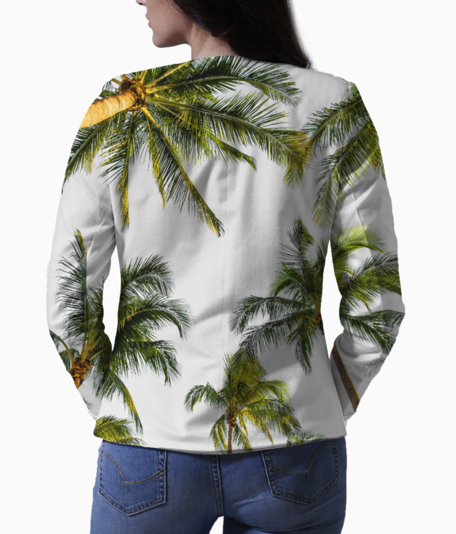 Coconut fall blazer back