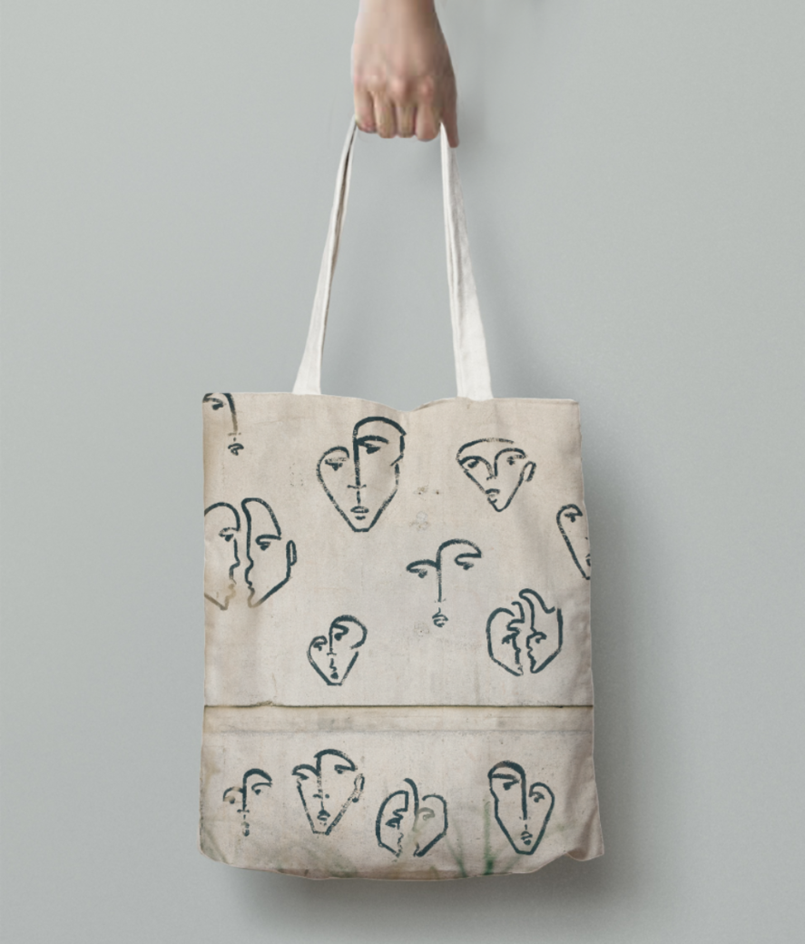 Who is who tote bag back