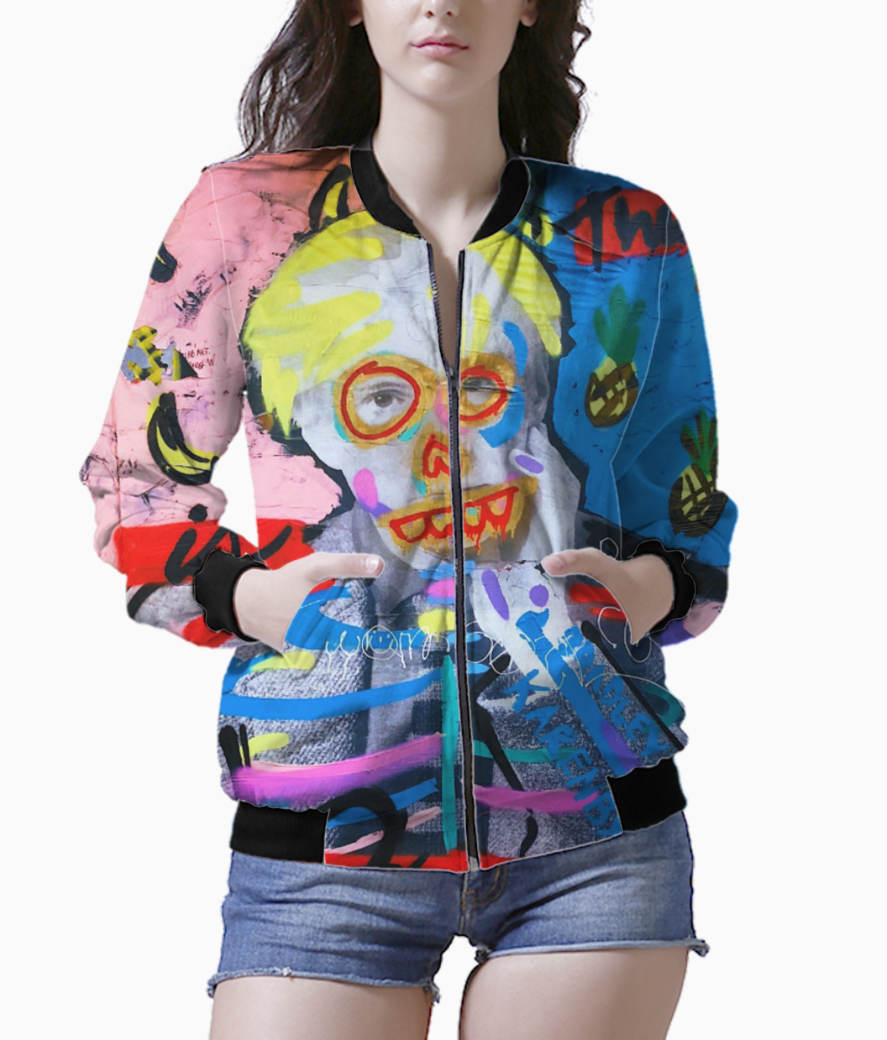 Warhol addict bomber front