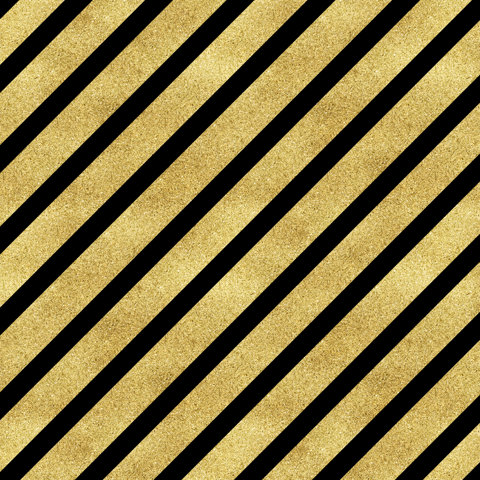 Classic cross gold glitter stripes