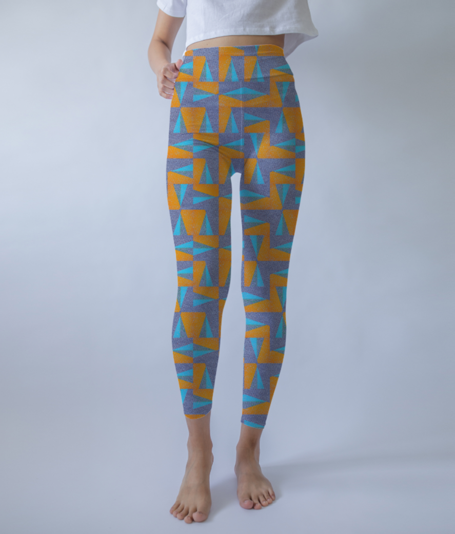 Orange pool leggings front