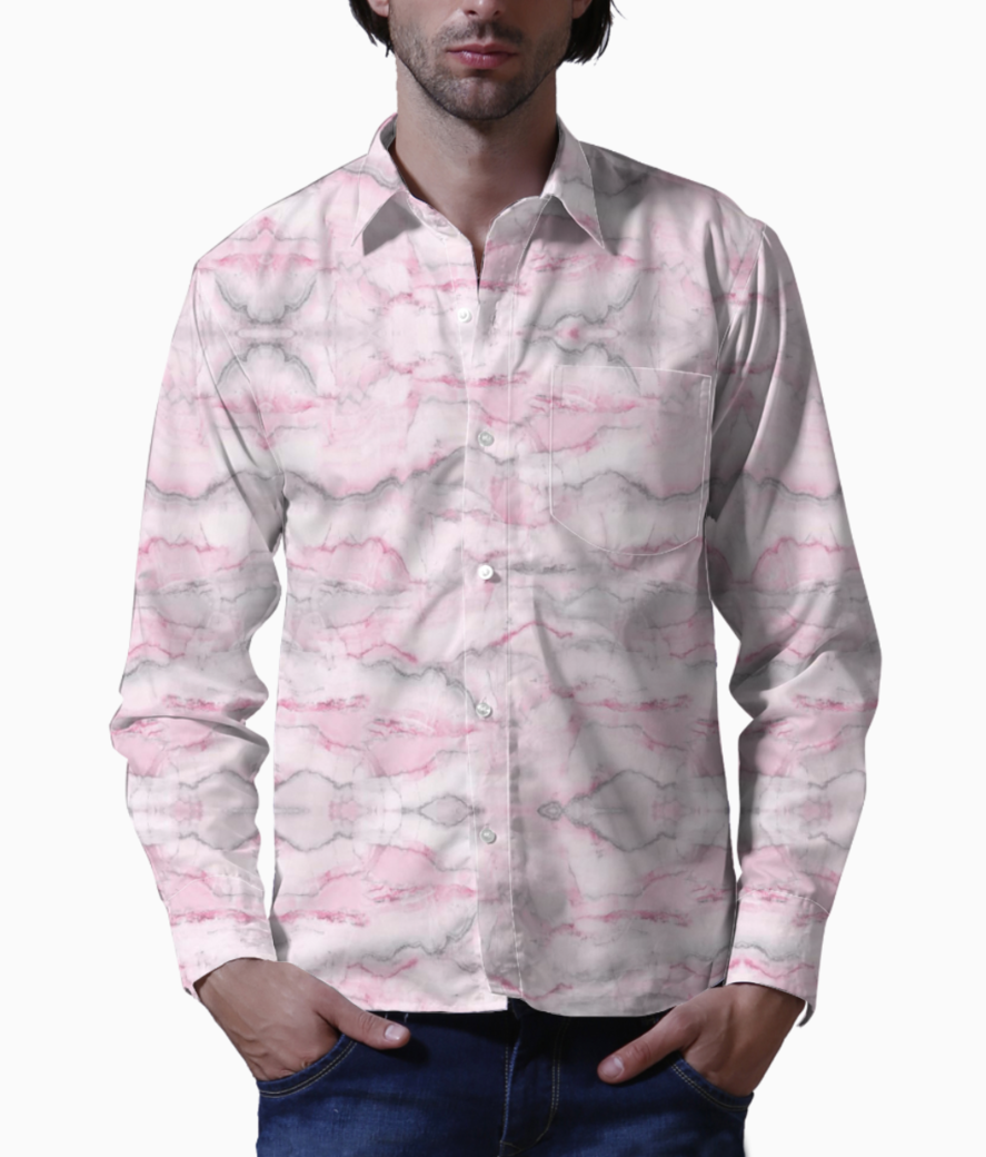 331474 gift wrap foil pink marble basic shirt front