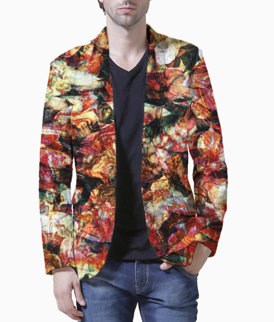 Autumn leaves blazer front