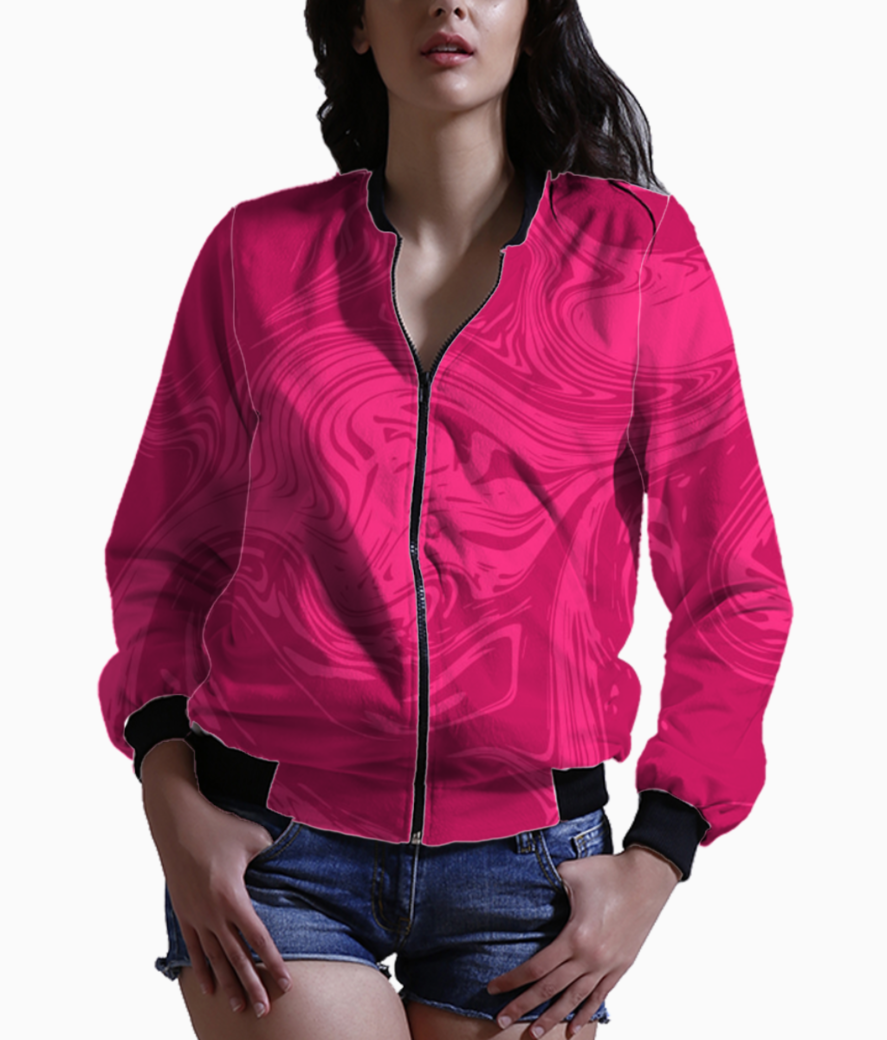 Modern marble liquid background pink 4111 19 bomber front