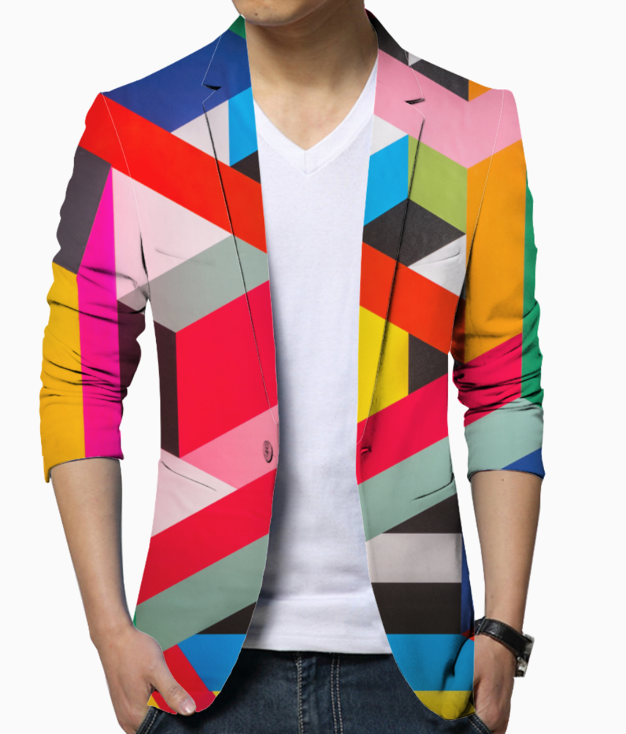 Color rush blazer front