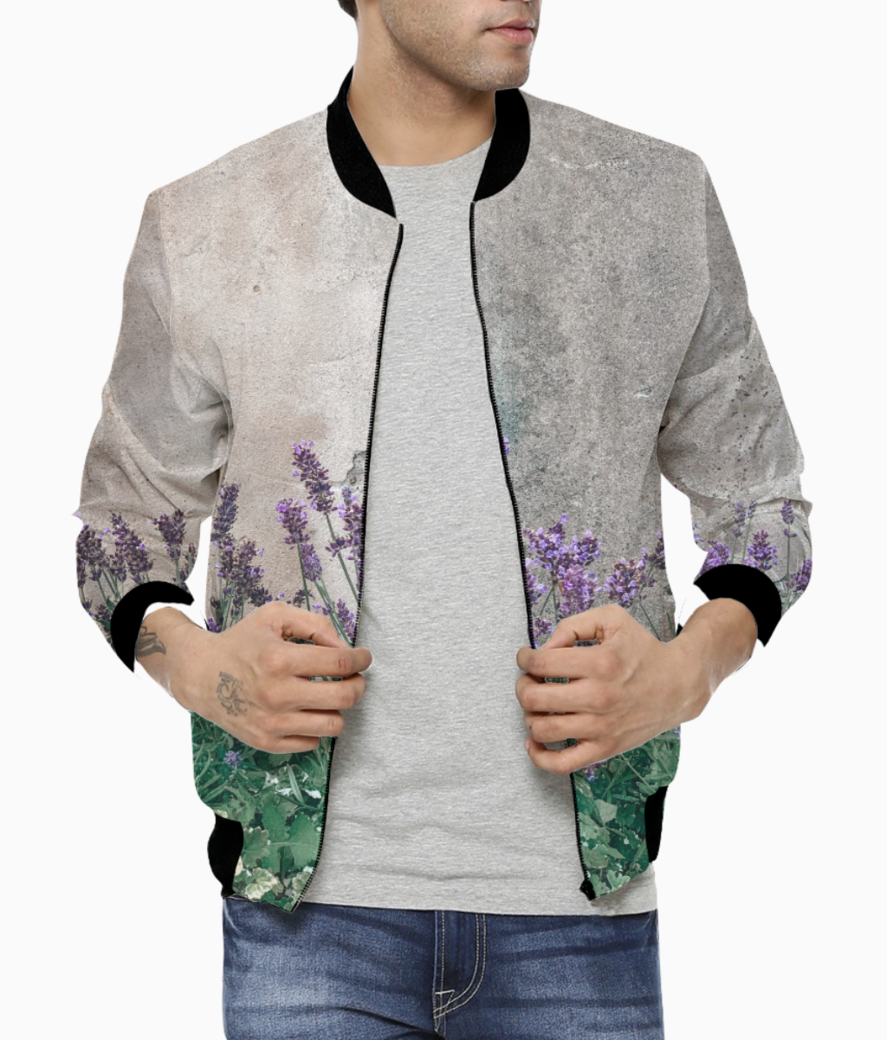 Cute flowes bomber front