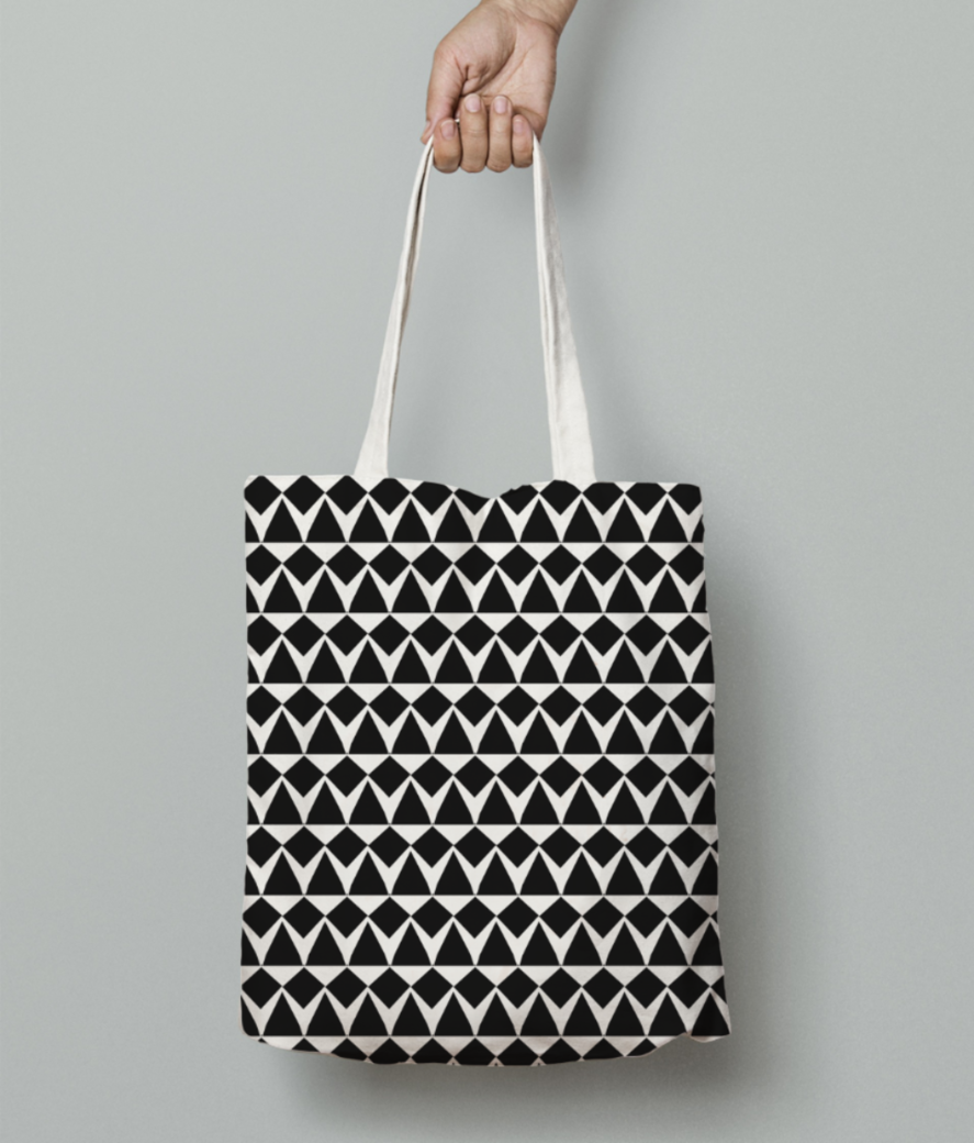 Ancient tribe seamless pattern tote bag front