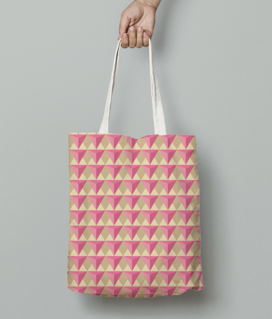 Cubic seamless pattern tote bag front