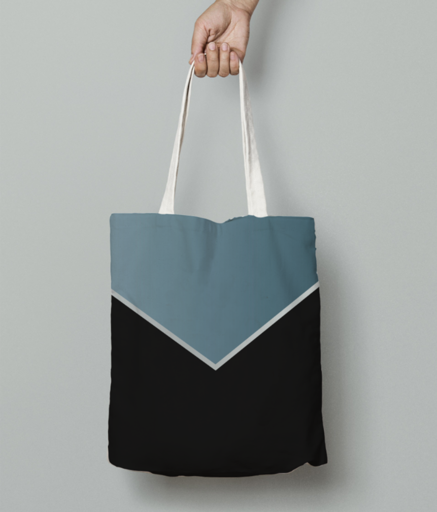 Earthstone modern abstract tote bag front