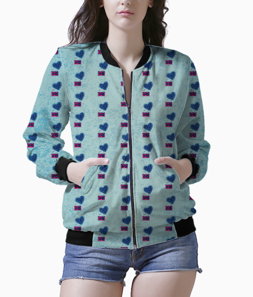 80s party bomber bomber front