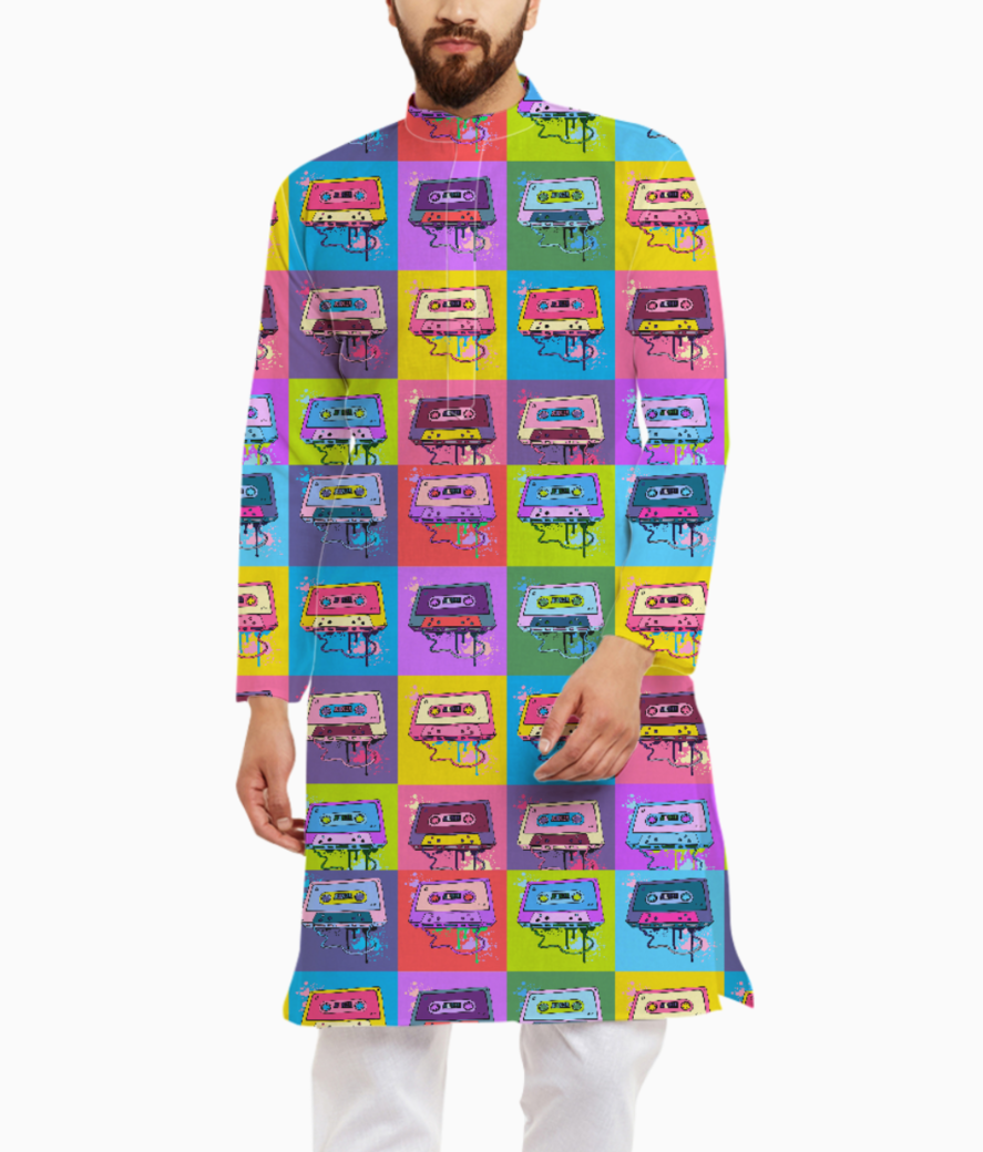 Psychedelic party kurta front