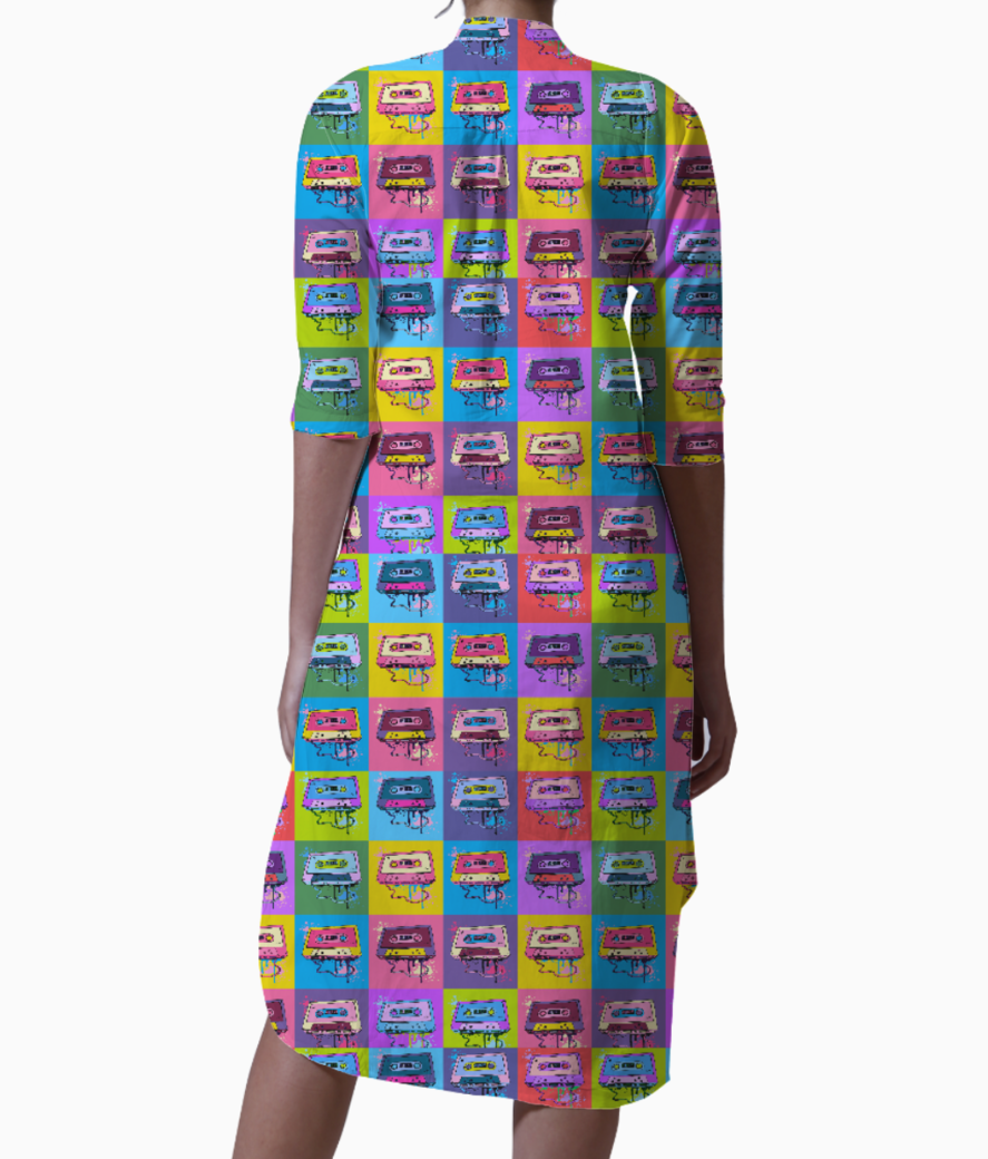 Psychedelic party small print kurti back