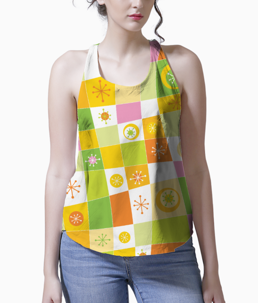 Abstract lines pattern tank front