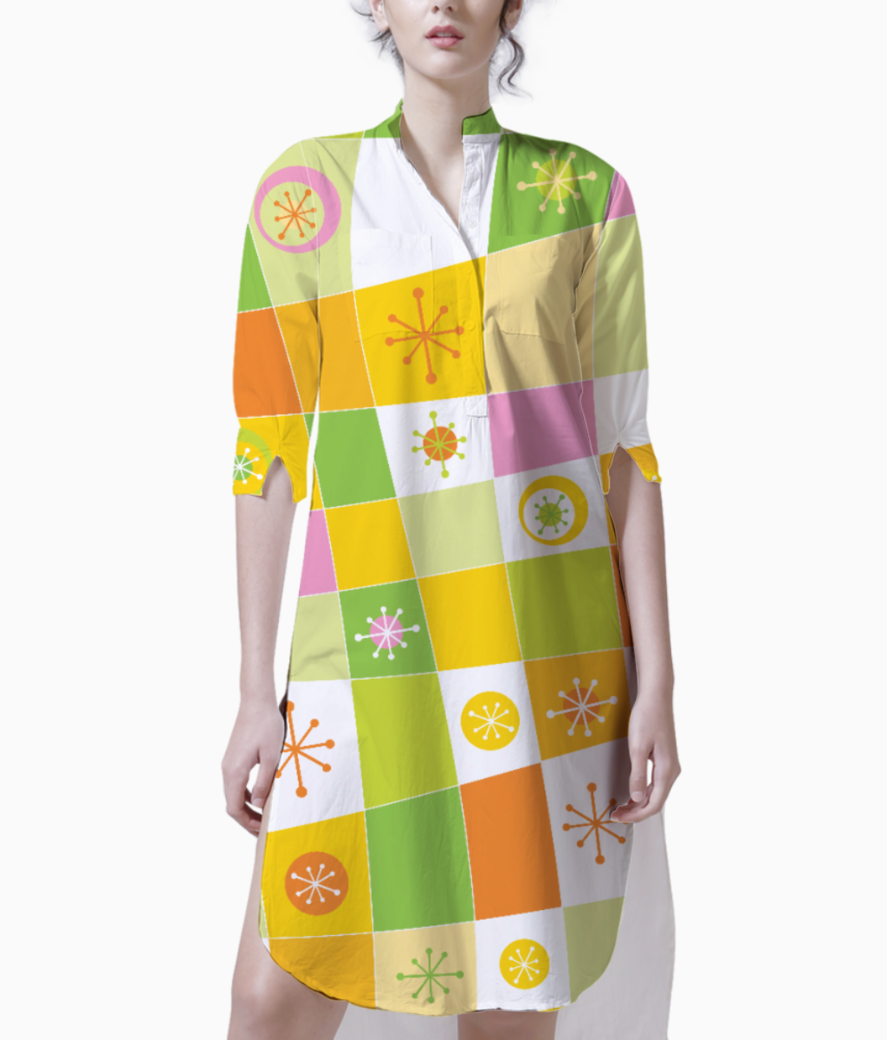 Abstract lines pattern kurti front