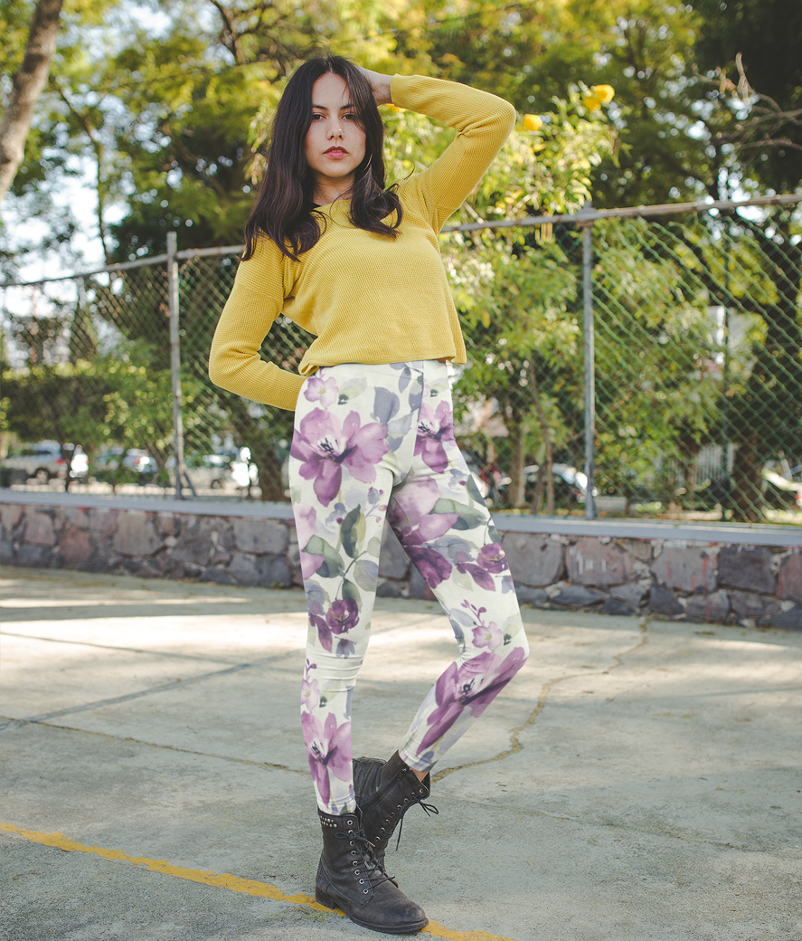 Mockup of a hispanic girl wearing leggings at a parking lot a19065 %282%29