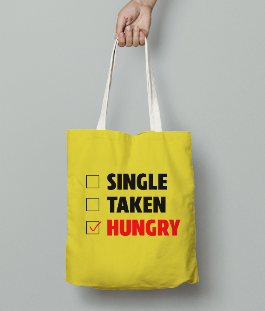 Hungryy tote bag front